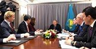 Встреча Нурсултана Назабаева с президентом компании Nasdaq Адиной Фридман