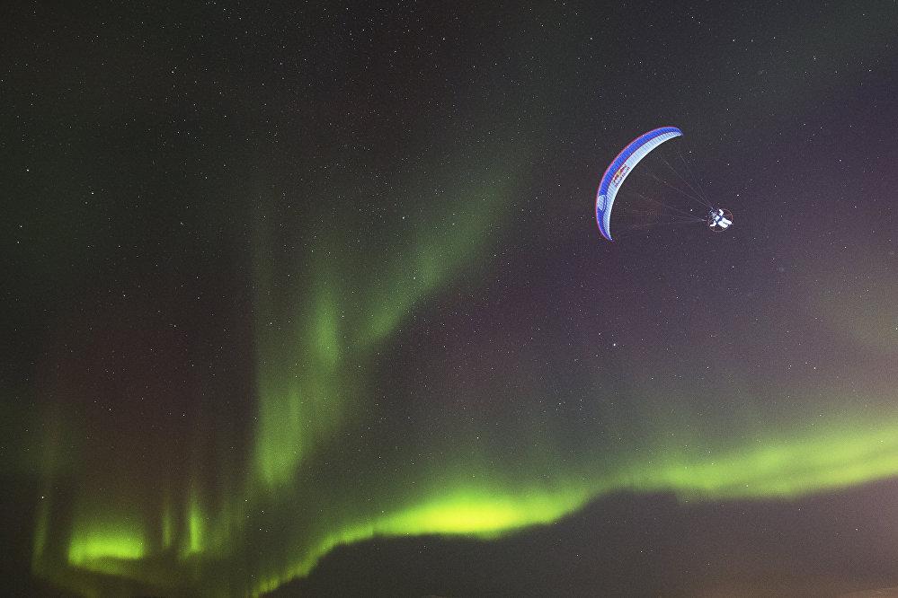 Северное сияние в Тромсе, Норвегия