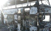 Сгоревший в Ыргызском районе автобус
