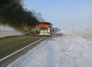 Ақтөбе облысында автобус өртеніп, 52 адам қаза болды