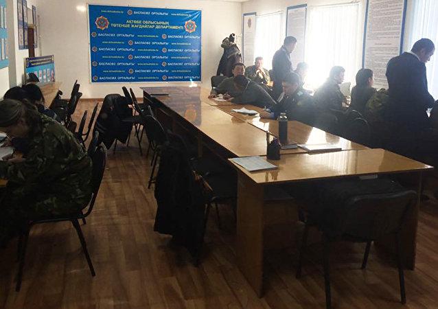 Оперативный штаб в Актюбинской области