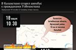 Факты о пожаре в автобусе в Актюбинской области