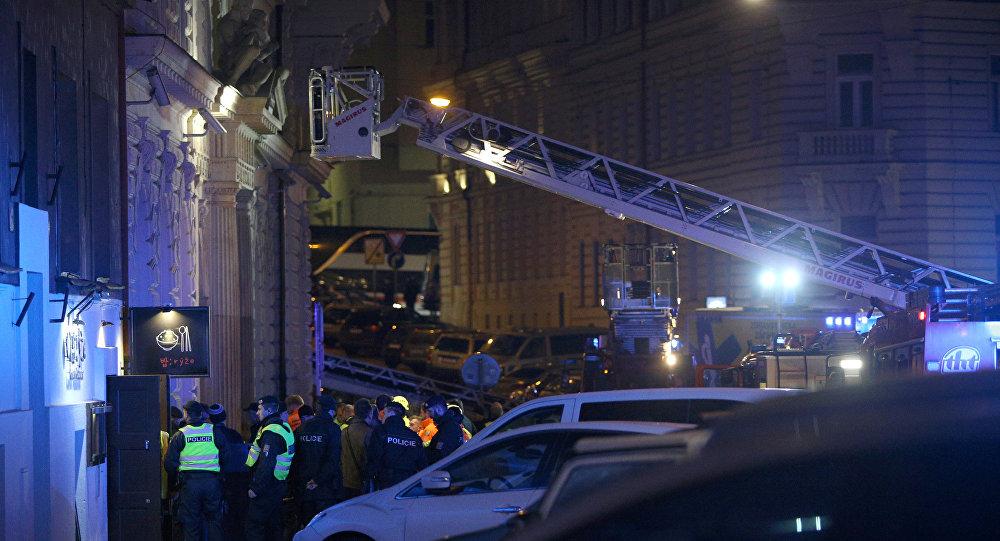 Пожар в гостинице Eurostars David в центре Праги