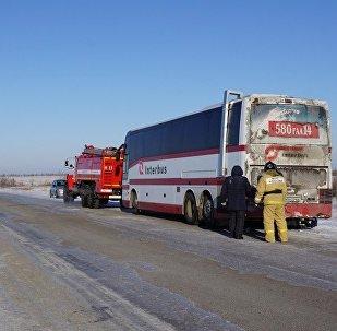 Автобус с казахстанскими хоккеистами сломался в России