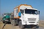 Три грузовика столкнулись в Жанаозене