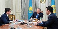 Нұрсұлтан Назарбаев пен Асқар Жұмағалиев