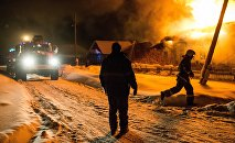 Пожар в частном доме, архивное фото