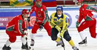 Матч на чемпионате мира по хоккею с мячом-2018 в Хабаровсе между сборными Казахстана и Венгрии