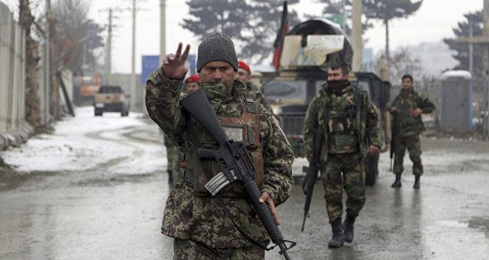 Военнослужащий армии Афганистана, архивное фото