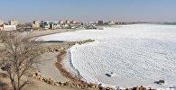 Каспий покрылся льдом. Архивное фото