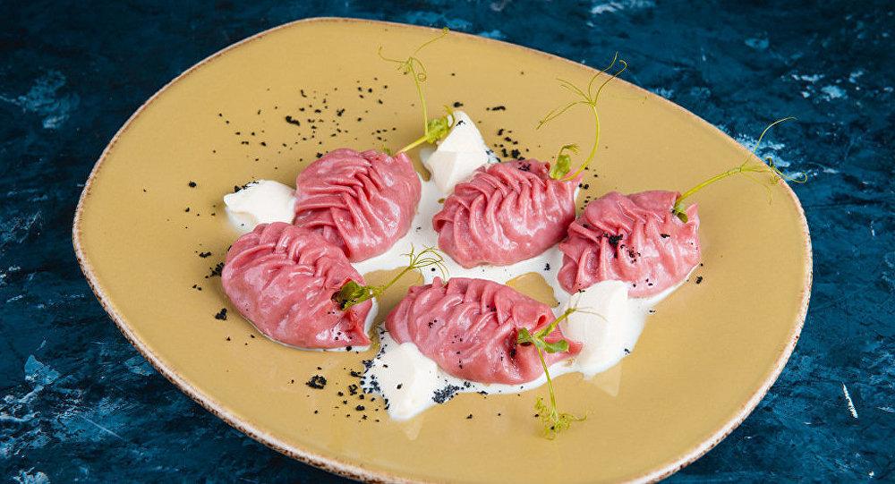 Блюдо высокой казахской кухни