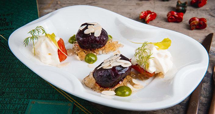 Блюдо из меню ресторана Qazaq Gourmet