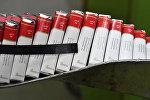 Цех производства сигарет, архивное фото