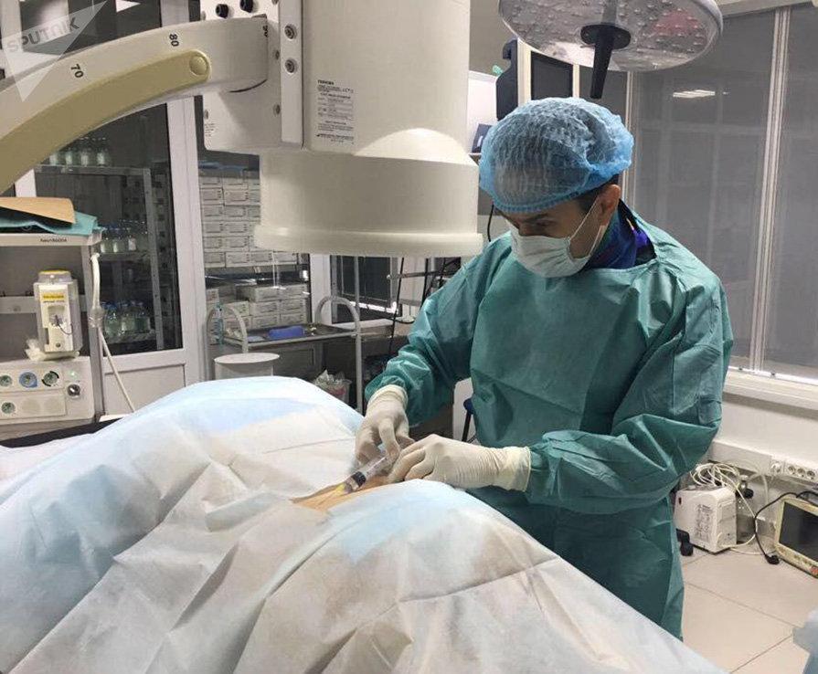 Рамиль Танкачеев во время операции