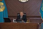 Расширенное заседание правительства с участием президента Казахстана Нурсултана Назарбаева