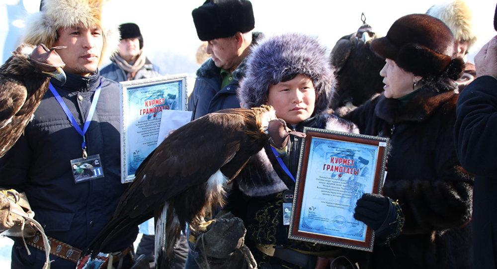 Тринадцатилетний Бексултан Сейтжан стал лучшим беркутчи в Казахстане