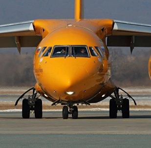 Самолет Ан-148-100В авиакомпании Саратовские авиалинии, архивное фото