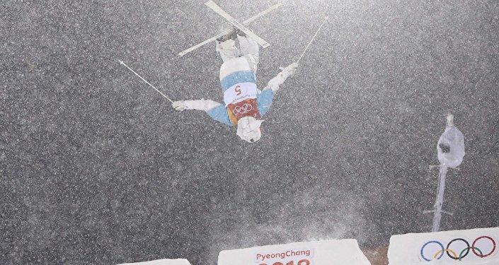 Юлия Галышева во время выступления на Зимних Олимпийских играх в Пхенчхане 2018