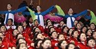 Северокорейские чирлидерши на Олимпийских играх в Пхенчхане