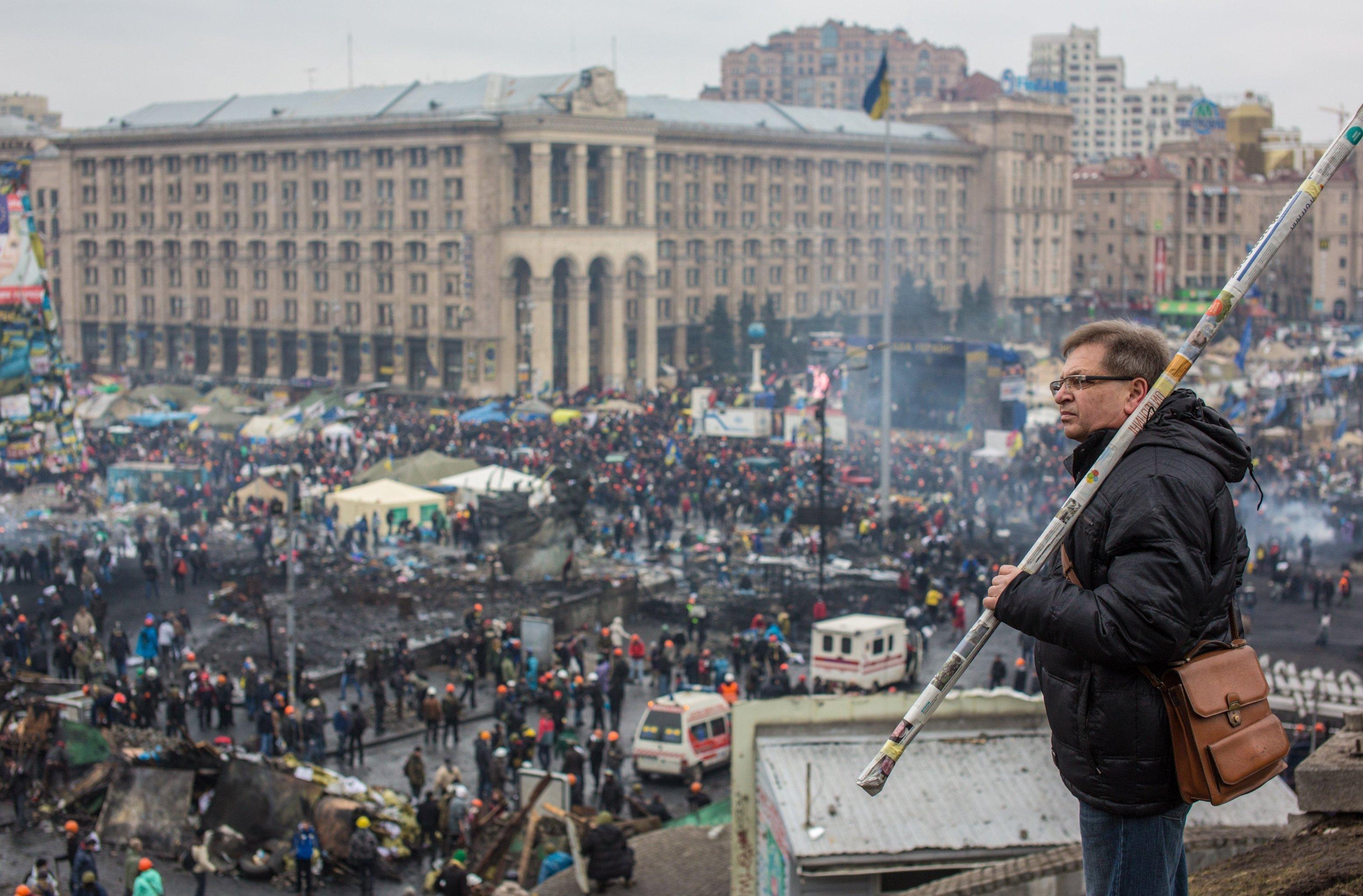 Сторонники оппозиции на площади Независимости в Киеве, архивное фото