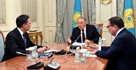 Президент Казахстана Нурсултан Назарбаев встретился с министром иностранных дел страны Кайратом Абдрахмановым