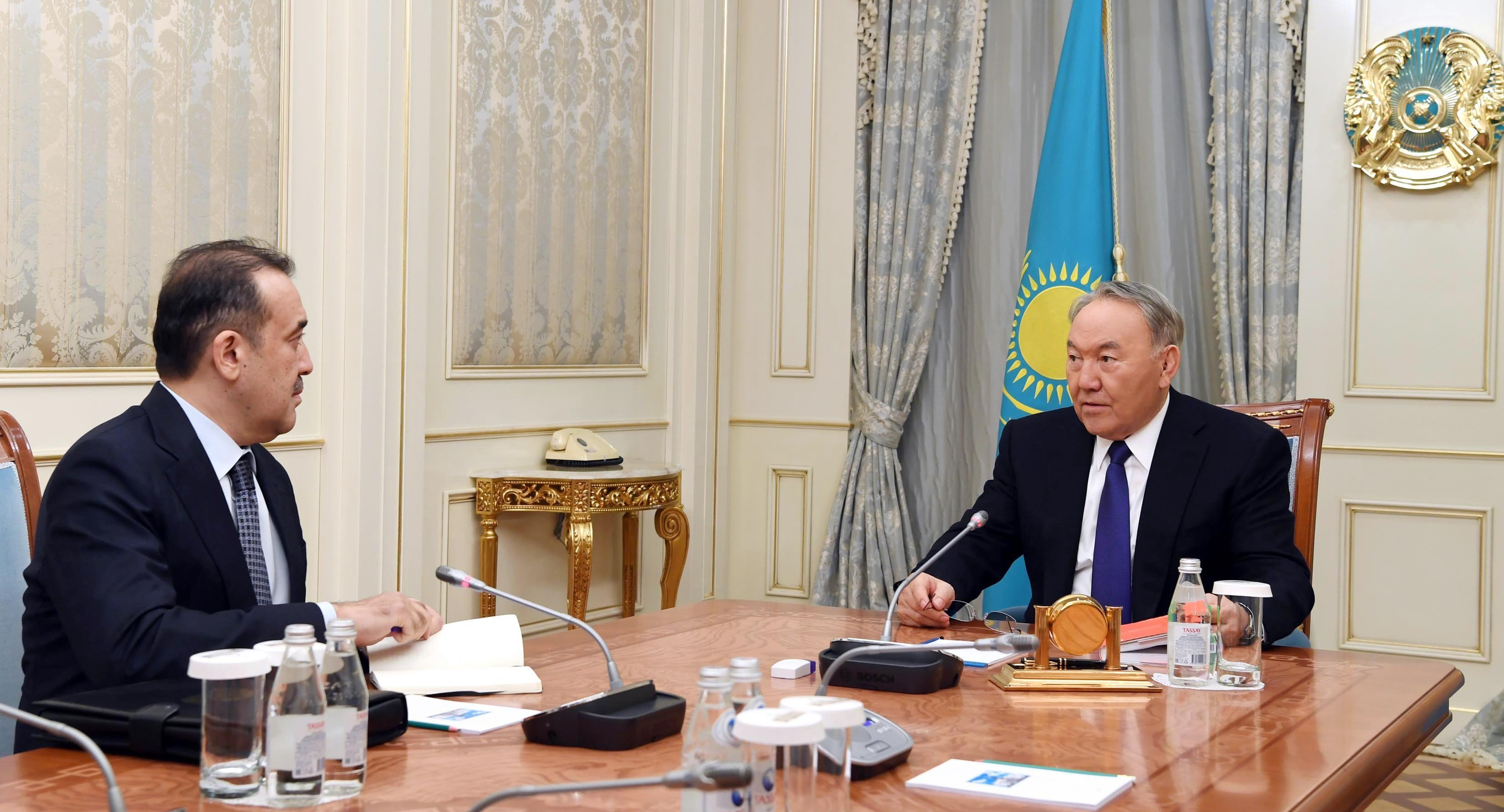 Президент Нурсултан Назарбаев провел встречу с председателем Комитета национальной безопасности Каримом Масимовым