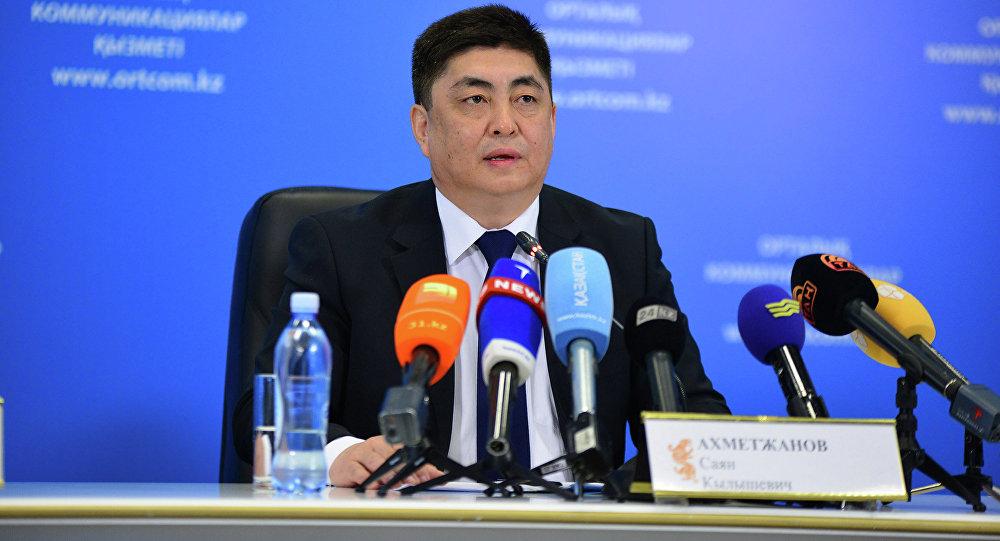 Заместитель председателя министерства по делам госслужбы Саян Ахметжанов. Архивное фото - рекадр