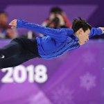 Денис Тен на олимпиаде в Пхенчхане 2018
