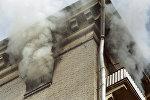 Архивное фото пожара в жилом доме