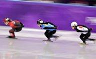 Зимние Олимпийские игры, Пхенчхан 2018 года, Анастасия Крестова в центре фото