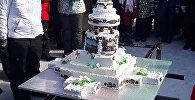 70-килограммовый торт испекли на Масленицу в селе Павлодарское