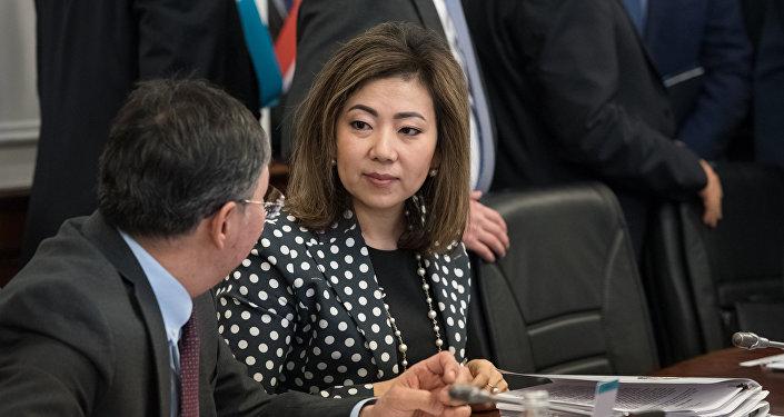 Мадина Абылкасымова - министр труда и социальной защиты населения