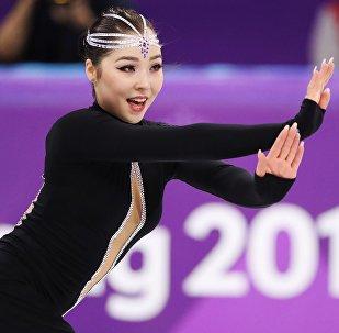 Казахстанская фигуристка Айза Имамбек