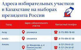 Адреса избирательных участков в Казахстане
