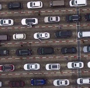Гигантская пробка в Китае