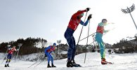 Алексей Полторанин во время соревнований по лыжным гонкам в Пхенчхане, 24 февраля 2018