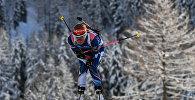 Чешская биатлонистка на шестом этапе Кубка мира по биатлону, архивное фото