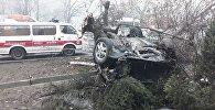 Toyota Camry перевернулась по Саина - Улыкбека в Алматы
