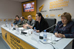 Пресс-конференция по делу о ДТП возле Керуена в пресс-центре Sputnik Казахстан