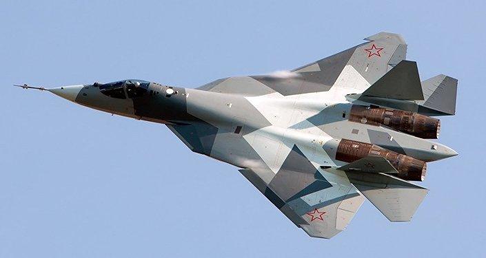Самолет Су-57, архивное фото