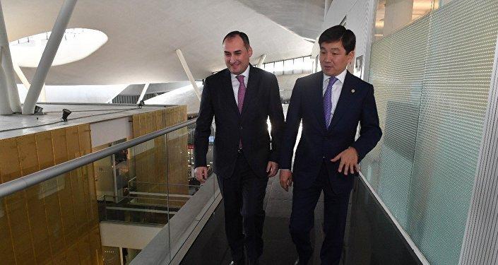 Бауыржан Байбек и мэр Тбилиси Кахабер Каладзе