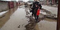 Талые воды подтопили село Узынагаш Алматинской области