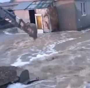 Алматы облысында тұрғын үйлер суға кетіп жатыр - видео