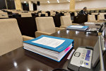 В зале заседаний парламента Казахстана