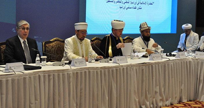 Участники международного форума мусульман Евразии
