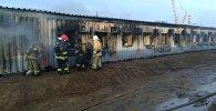 Общежитие загорелось на Карабатане