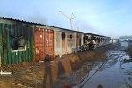 Общежитие загорелось в Карабатане
