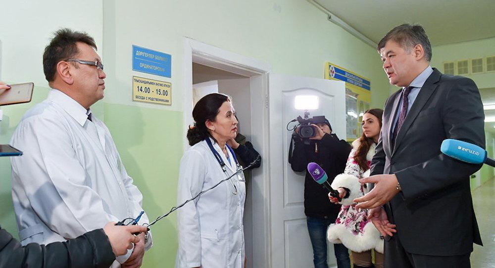 Министр здравоохранения Елжан Биртанов в ходе поездки в Северо-Казахстанскую область