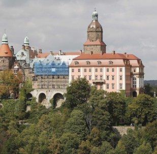 Замок Ксенж в Валбжихе, юго-запад Польши