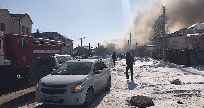 Астанада Оңтүстік-Шығыс ауданында ірі өрт шықты
